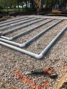 Septic field piping